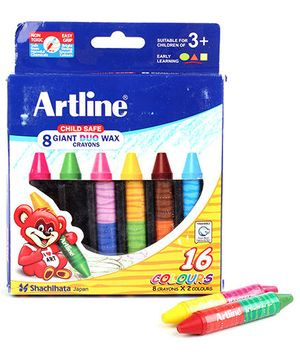 Artline Giant Duo Wax Crayons -  8 Colours