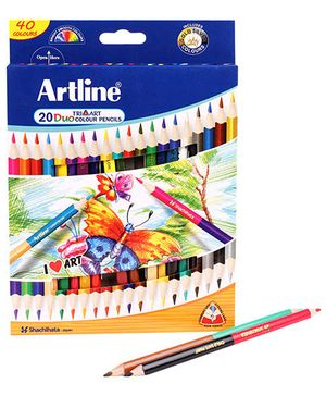 Artline Duo Tri Art Colour Pencils Pack of 20