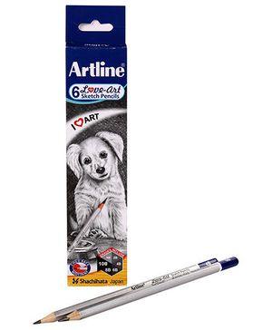 Artline Sketch Pencils - Pack of 6