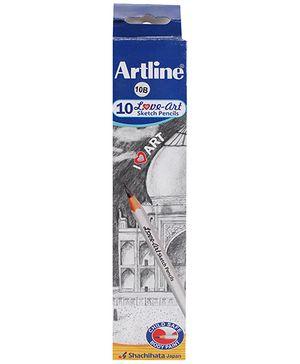 Artline Graphite Pencils Grade 10 B - Pack Of 10
