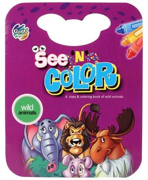 Chitra See N Color Book Wild Animals - English