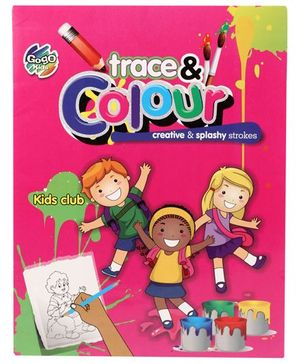Chitra Kids Club Trace And Colour Book - English