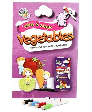 Chitra Wipe And Clean Book - Vegetables