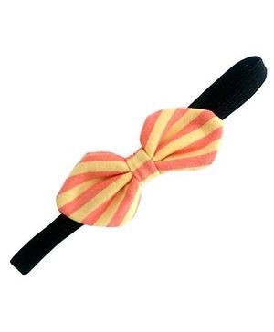 ATUN Stripe Print Tribal Bow Headband - Yellow And Orange