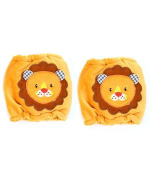 1st Step Velour Knee Protector Lion Face - Orange