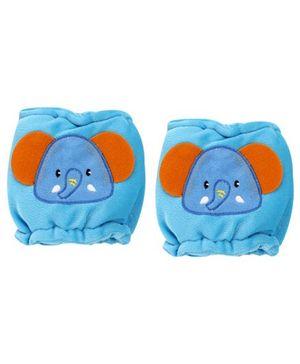 1st Step Velour Knee Protector Elephant Face - Blue