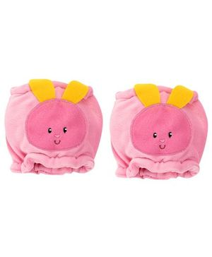 1st Step Velour Knee Protector Rabbit Face - Pink