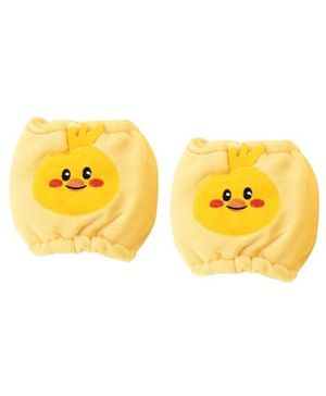 1st Step Velour Knee Protector Baby Bird Face - Yellow