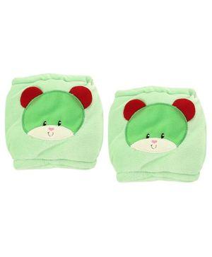 1st Step Velour Knee Protector Bear Face - Green