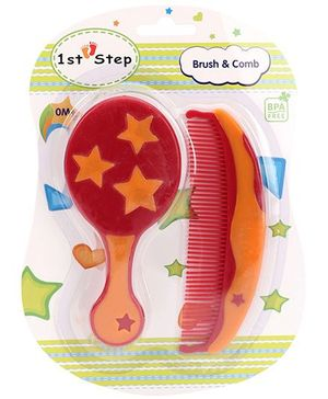 1st Step Brush And Comb Set - Maroon And Orange