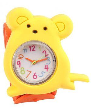 Slap Style Watch Rat Design - Yellow And Orange