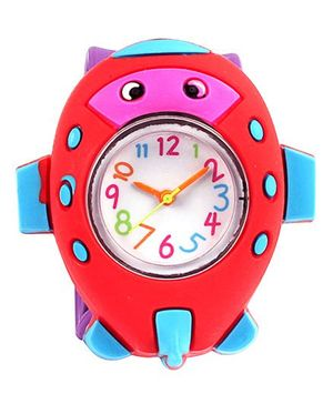 Slap Style Watch Fish Design - Purple And Red