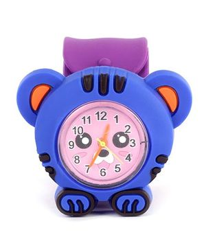 Slap Style Watch Tiger Design - Purple And Blue