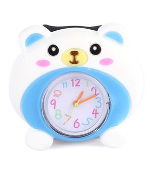 Slap Style Watch Bear Design - White And Black