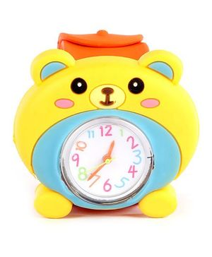 Slap Style Watch Bear Design - Yellow And Orange
