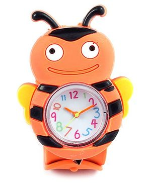Slap Style Watch Bee Design - Orange