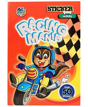 Chitra Fun Activity Sticker Book - Racing Mania - English