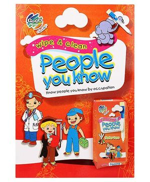 Chitra Wipe And Clean Book People You Know - English