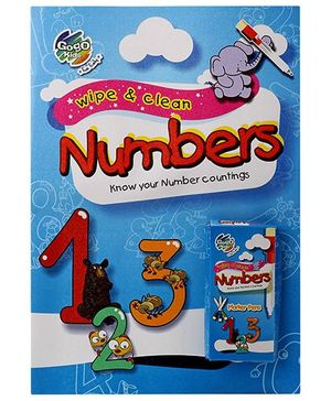 Chitra Wipe And Clean Book Numbers - English