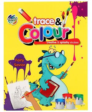 Chitra Trace And Colour Coloring Book Fairy Saviour - English