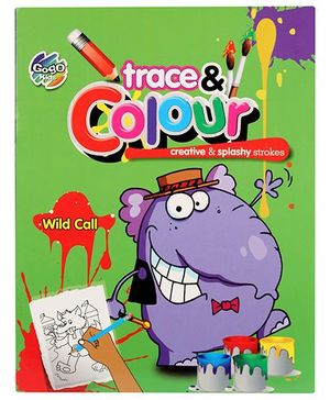 Chitra Trace And Colour Coloring Book Wind Call - English