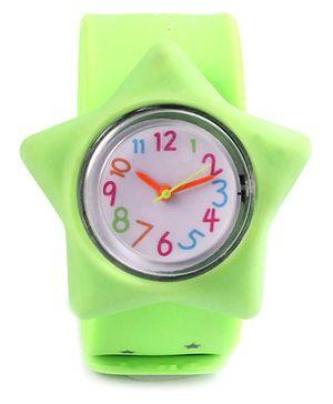 Slap Style Analog Watch Star Design - Green