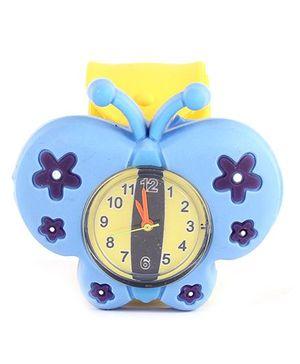 Slap Style Watch Butterfly Design - Blue
