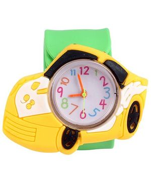 Slap Style Watch Car Design - Green And Yellow