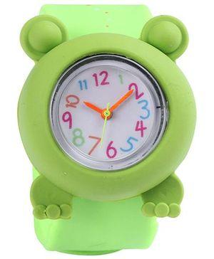Slap Style Analog Watch Frog Design - Green