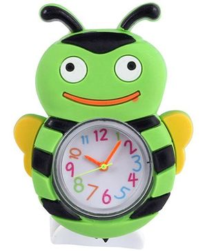 Slap Style Analog Watch Bee Design - Green