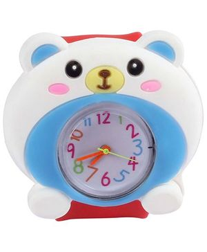 Slap Style Analog Watch Bear Design - Red And White