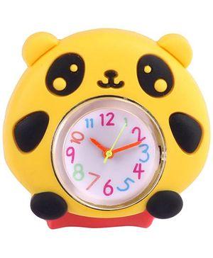 Slap Style Analog Watch Panda Design - Red And Yellow