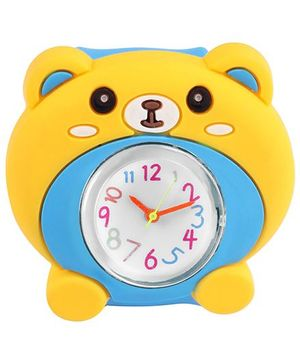 Slap Style Analog Watch Bear Design - Blue And Yellow
