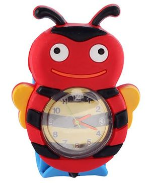 Slap Style Analog Watch Honeybee Design - Red And Blue