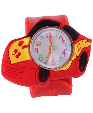 Slap Style Analog Watch Car Design - Red