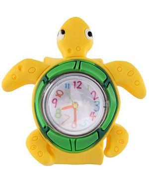 Slap Style Analog Watch Tortoise Design - Yellow