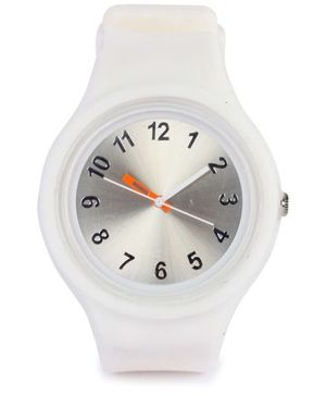 Analog Wrist Watch Round Shape Dial - White