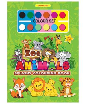 Splashy Colouring Book - Zoo Animals