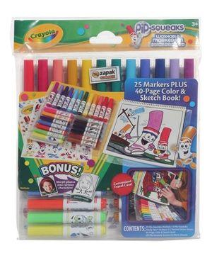 Crayola - Pipsqueaks Washable Markers N Sticker Set