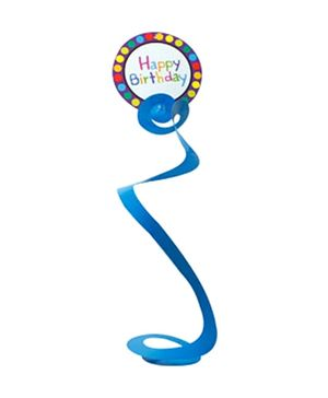 Partymanao Paper Dangling Swirls Happy Birthday Blue - Pack Of 6