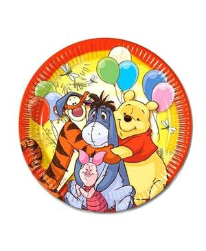 Disney Winnie The Pooh Paper Plates - Pack Of 10