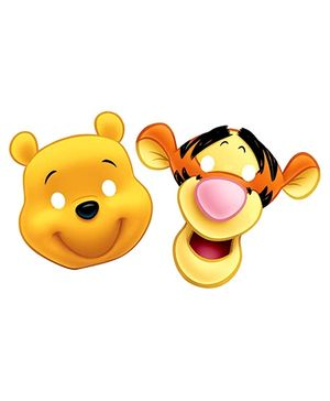 Disney Winnie The Pooh Die Cut Paper Mask - 6 Pieces