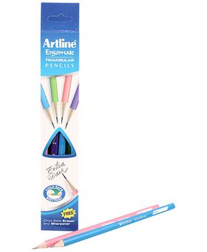 Artline Ergomate Triangular Pencils - Pack of 10