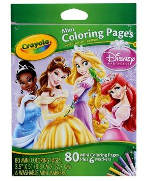 Mini Coloring Pages- Princess