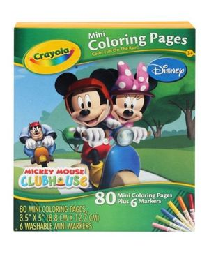 Mini Coloring Pages - Mickey Mouse
