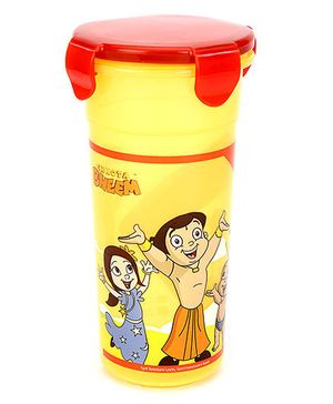 Chhota Bheem Tumbler With Lid Red And Yellow - 400 ml