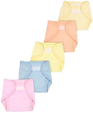 Babyhug Velcro Closure Muslin Padded Fabric Nappy Small - Pack Of 5