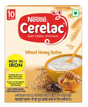 Nestle Cerelac Baby Cereal With Milk Wheat And Honey Stage 2 - 300 grams