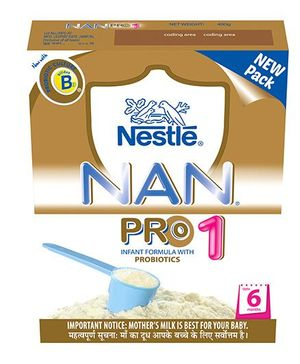 Nestle Nan Pro 1 Probiotics Infant Formula - 400 gm