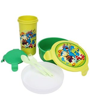 Cello Homeware Eat And Sip Lunch Box Set - Yellow And Green
